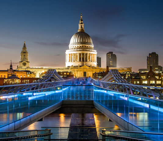Millennium bridge with St Paul's Cathedral. Credit: Getty Images