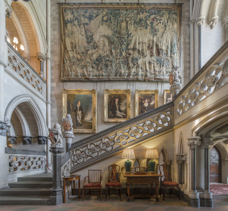 Grand staircase, Arundel Castle. Photos of Arundel Castle, Arundel Castle interiors