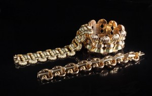 HR Richard Ogden 1950s gold bracelet