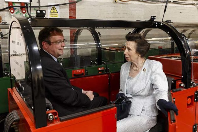 The Princess Royal takes a ride on the Mail Rail. The Princess Royal explored the quirky history of the most royal of British institutions, the Royal Mail, and discovered the origins of the world's earliest social network: the post. Credit: Miles Willis/Getty Images for The Postal Museum) | Princess Anne opens the Postal Museum and Mail Rail