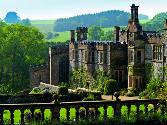 Haddon Hall, a medieval manor house in the Peak District where Jane Austen is thought to have stayed while writing Pride and Prejudice. Peak District photos