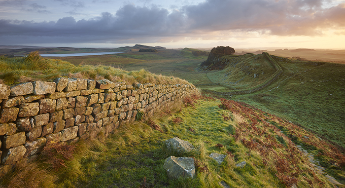 Hadrian's Wall near Housesteads. 12 wonders of Britain: British places everyone should visit once