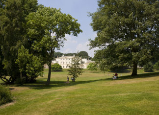 Kenwood House also known as the Iveagh Bequest, a 17th century former stately home set in tranquil parkland by Hampstead Heath.