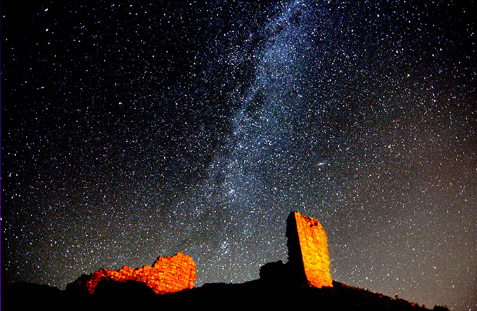 Harbottle Castle Milky Way (C)Ian Glendinning