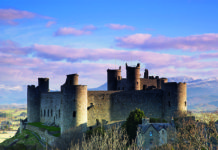 Harlech Castle, Snowdonia, north Wales. Snowdonia National Park
