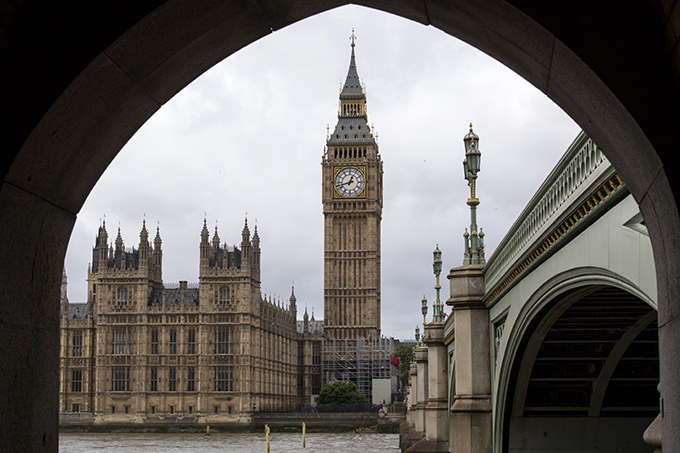 Houses of Parliament and Big Ben. Big ben's chimes sound for last time in four years