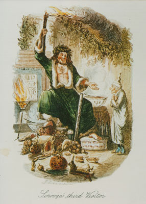 Image-from-A-Ghost-of-Christmas-Present,-Dickens's-Christmas-Stories---c-Charles-Dickens-MuseumMA