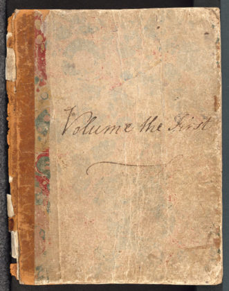 Jane Austen Volume the First cover. Credit: Bodleian Libraries, University of Oxford