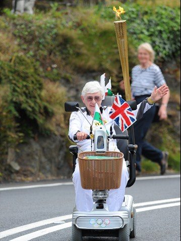 Jill Edge Olympic Torch bearer