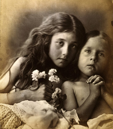 The Red and White Roses,1865, by Julia Margaret Cameron. When We Were Young exhibition, National Galleries of Scotland
