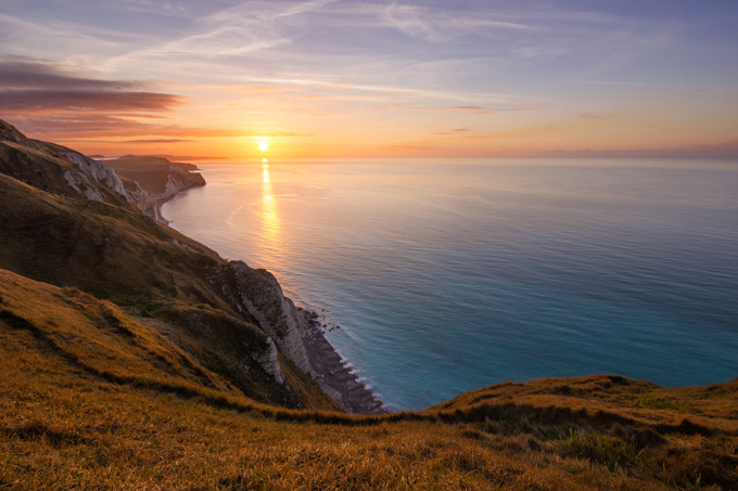Jurassic Coast, Looking East from White Nothe, Dorset, England