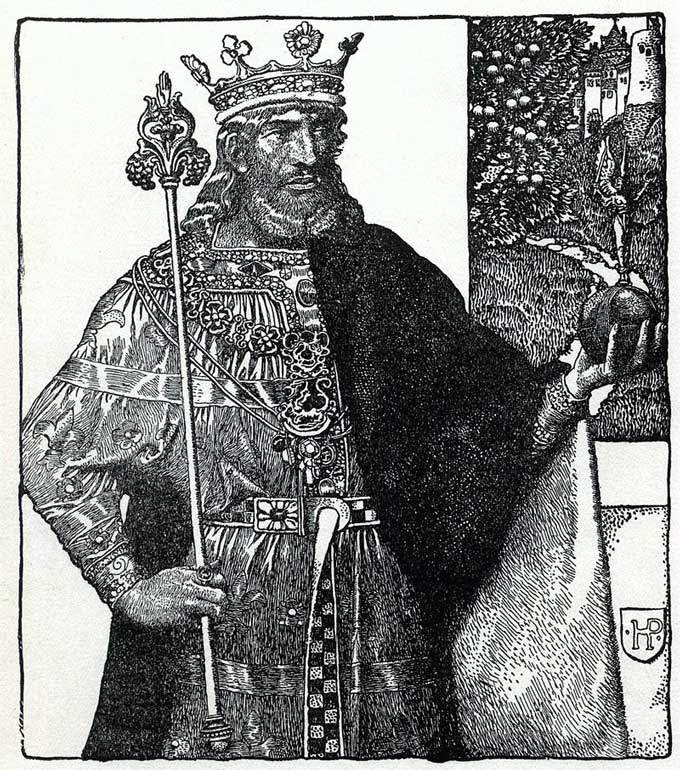 King Arthur of Britain, by Howard Pyle from The Story of King Arthur and His Knights. (1903)