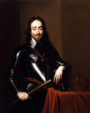 King Charles I of Great Britain and Ireland from 1625. English Civil War timeline. Charles I