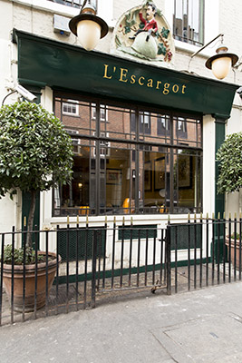 L'Escargot facade, Soho, London
