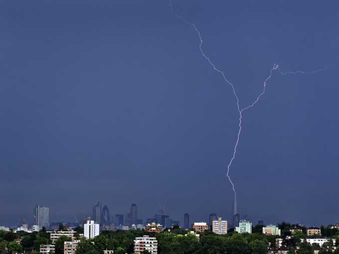 Lighting Strikes the Shard, London by Nigel Morton (Take a view, 2013)