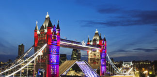 London's Tower Bridge, which survived the Blitz is a symbol of the capital's resilience. Britain's most famous landmarks