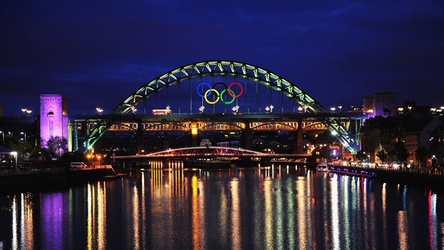 London 2012 Olympic Rings Newcastle