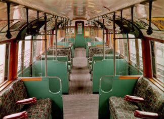 London Underground - A 1938 carriage. Credit: TFL from the London Transport Museum Collection