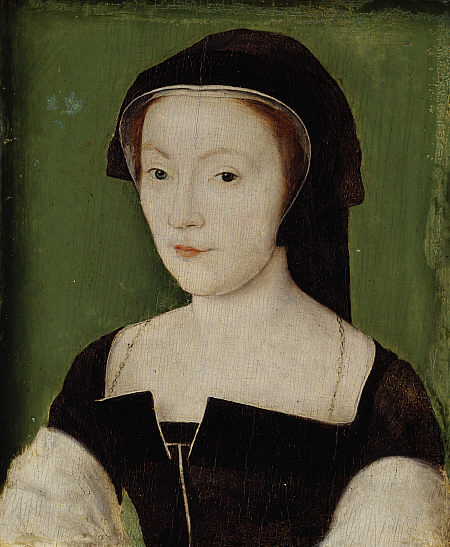 Mary of Guise, Queen of Scots, in a 1537 painting by 1537 by Corneille de Lyon. Credit: E P Jones
