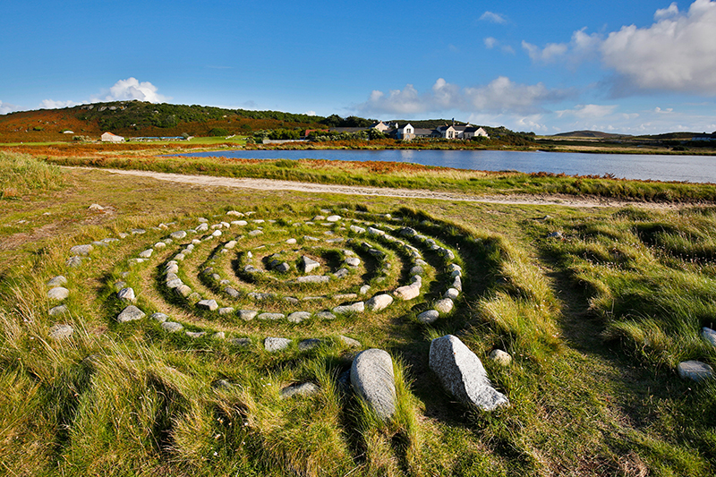 A maze on Bryher, the Isles of Scilly