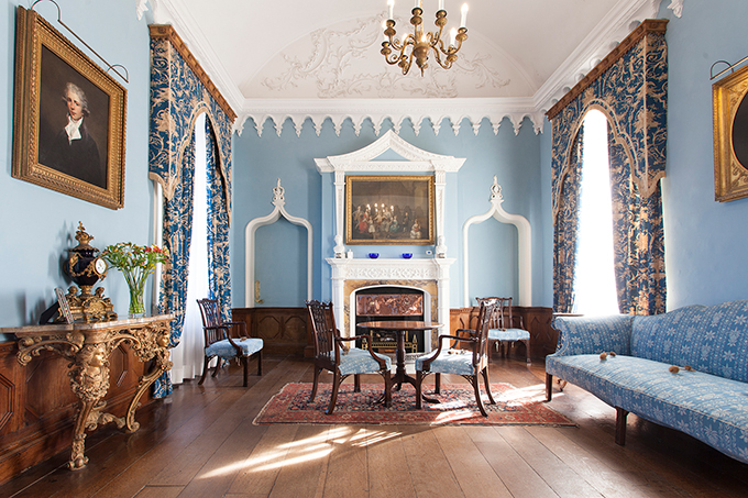 The Blue Drawing Room in the castle of St Michael's Mount