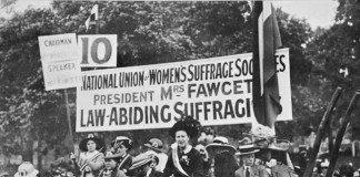 Millicent Fawcett speaks at Hyde Park, 1913