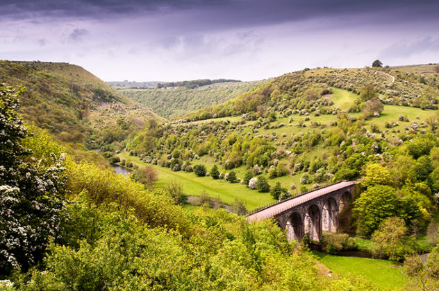 The view from Monsal Head of Monsal Dale in the Peak District, Derbyshire | Peak District photos