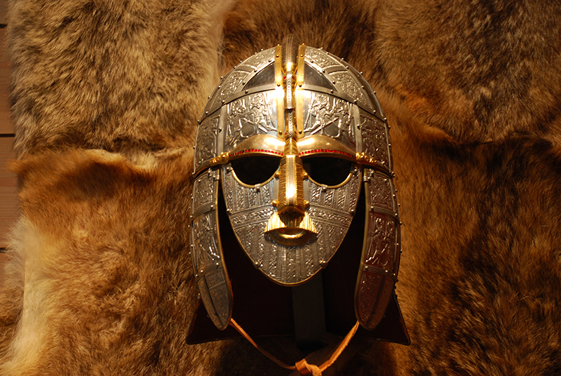Reconstruction of the Anglo Saxon helmet from Sutton Hoo
