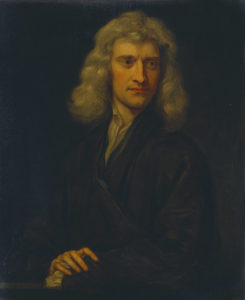 Isaac Newton often drew on walls