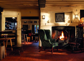 The welcoming bar area at the Olde Bell in Berkshire
