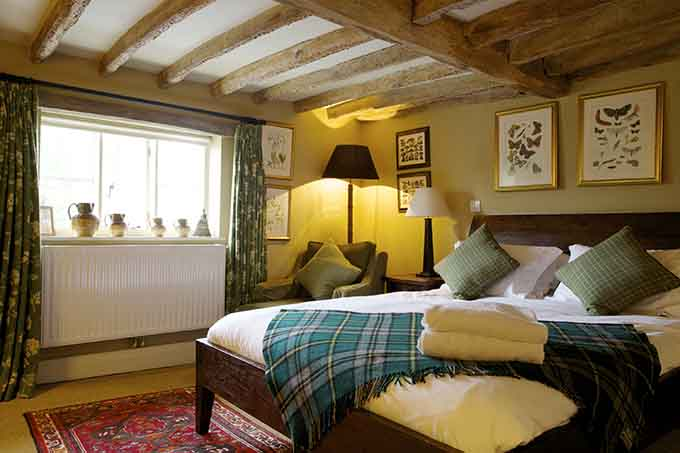 One of the bedrooms at the Anchor Inn, Hampshire. Cosy English inns | Near Chawton, Jane Austen's Hampshire