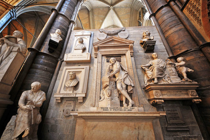 Poet's Corner in Westminster Abbey, London. Credit: Westminster Abbey