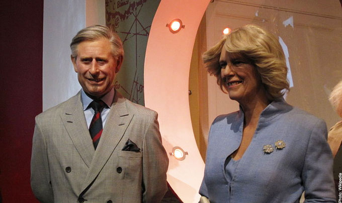 Prince Charles and Camilla waxworks Madame Tussauds