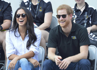 Prince Harry and Meghan Markle at Invictus Games 2017 in Toronto. Credit: Euan Cherry/WENN.com/Alamy