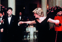 Princess Diana and John Travolta dance at the White House. Credit: Anwar