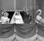 The Queen & Prince Philip wave from the royal balcony
