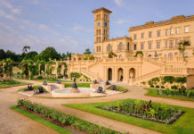 Queen Victoria's Garden terrace Osborne House, Isle of Wight