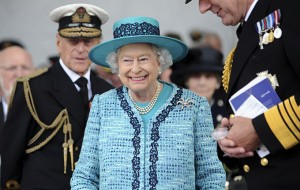 THE QUEEN CHRISTENS ROYAL NAVY'S NEW AIRCRAFT CARRIER