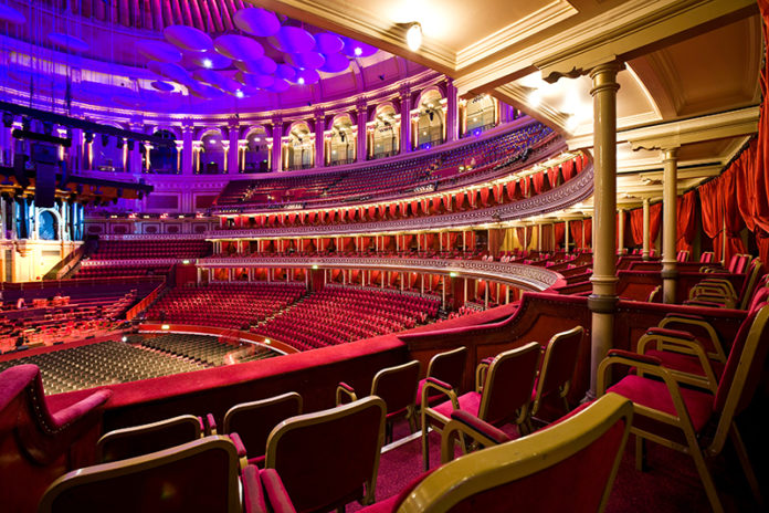 The grand auditorium of the Royal Albert Hall