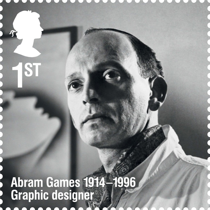 RL Abram Games stamp