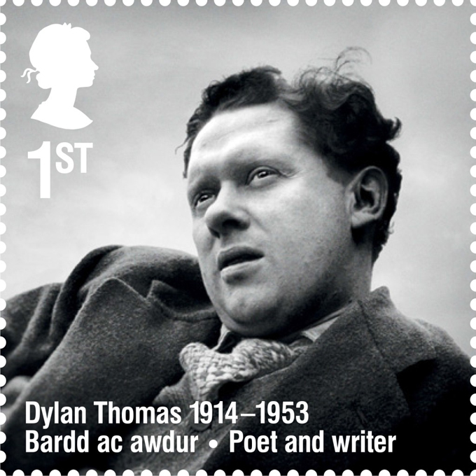RL Dylan Thomas stamp 400
