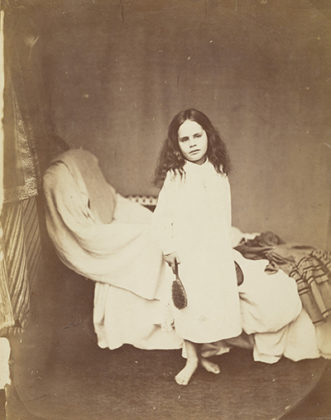 Irene MacDonald, 1863, by Rev Charles Lutwidge Dodgson (Lewis Carroll), albumen print. When We Were Young exhibition, National Galleries Scotland