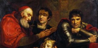 The Meeting of Edward V (1470-1483) and his Brother Richard, Duke of York (1473-1483) contemplated by King Richard III by James Northcote