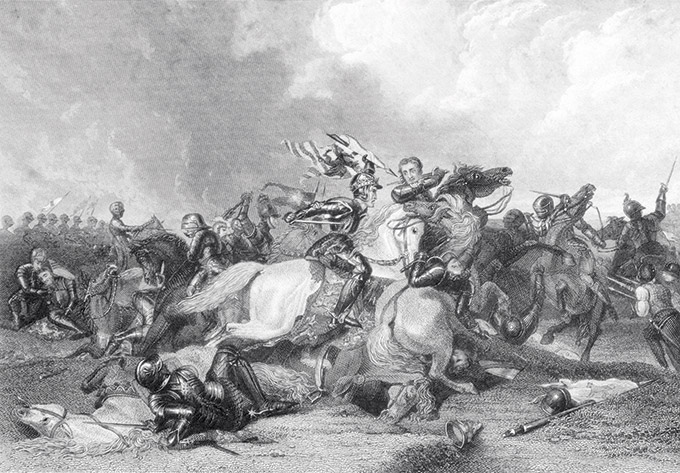 King Richard III was killed at the Battle of Bosworth