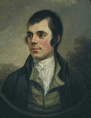 The best-known portrait of Burns, by Alexander Nasmyth, 1787. Credit: wikipedia