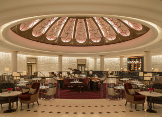 The Art Deco-style Rotunda Bar at the Four Seasons Trinity Square, in London. Credit: Richard Waite Photography
