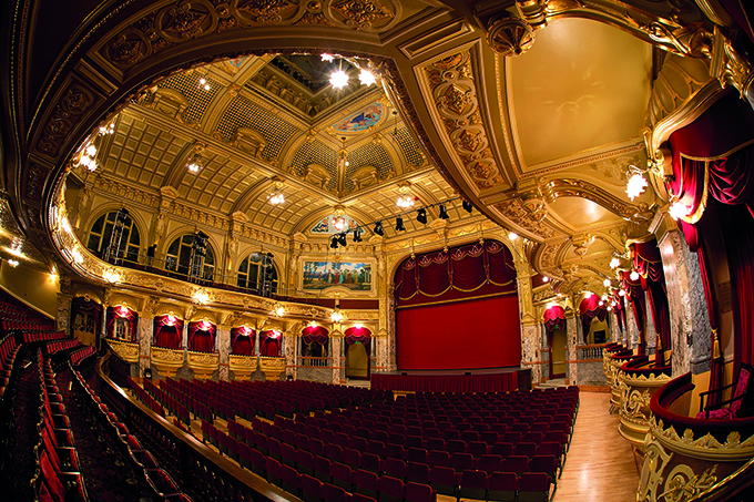 Royal Hall, Harrogate Theatre, Yorkshire, where the annual International Gilbert and Sullivan festival is held. Edwardian theatre