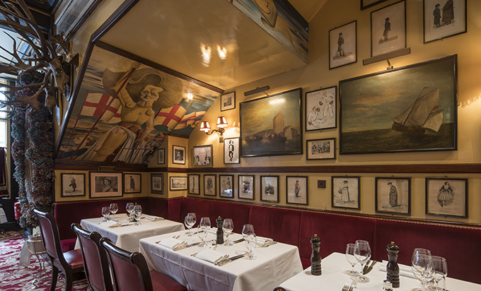 Rules Restaurant, London's Covent Garden. Credit: Tony Murray Photography