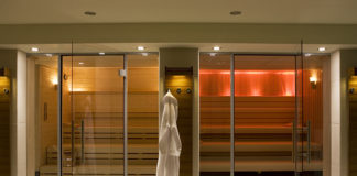 K West Hotel & Spa sauna and sanarium, Shepherds Bush, London