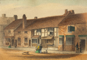 Print of Shakespeare's Birthplace circa 1847. Shakespeare's Birthplace goes up for sale
